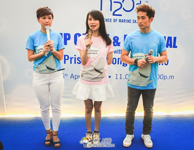 Priscilla Wong and Aric Ho sharing their experience after using H2O+ products
