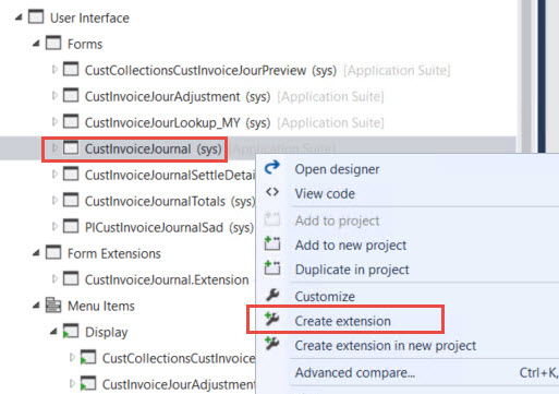 How to override a clicked method of a button in a form