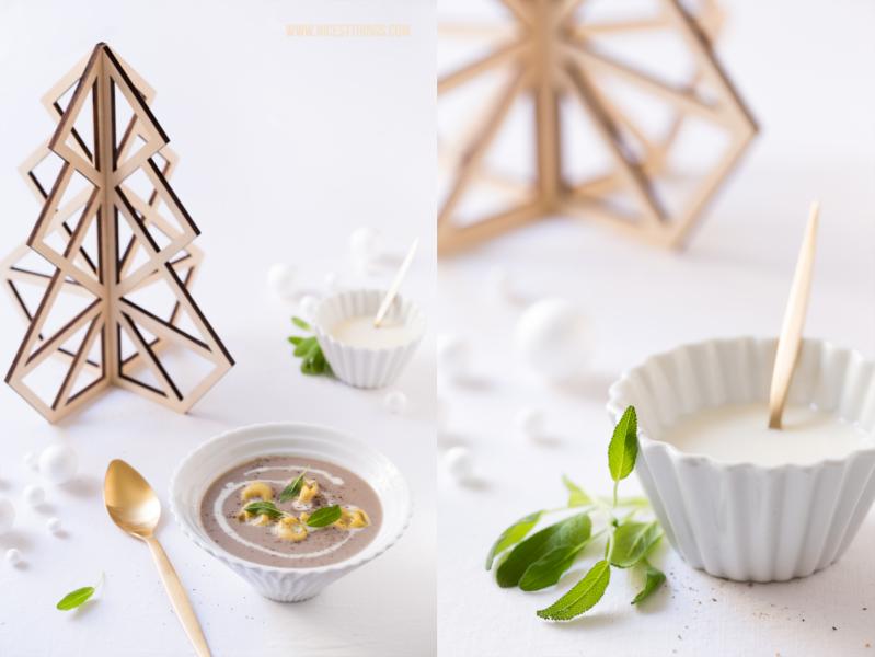 Pilzsuppe mit Tortellini