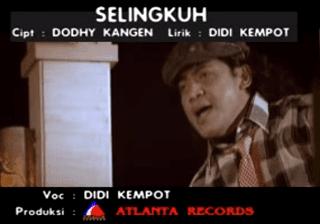 Lirik Lagu Selingkuh - Didi Kempot