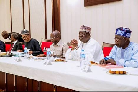 APC Caucus Meeting Holds In Aso Rock; PDP's Uduagban, Others Present (Photos)