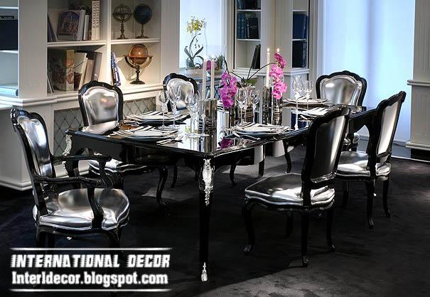 Modern luxury italian dining room furniture ideas for Black dining room furniture decorating ideas