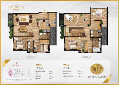 Thiết kế căn hộ Penthouse số 5-6