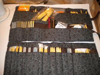 Stor Hjemmelaget blomsterkasse: Oppbevaring strikkepinner biltema HS-12