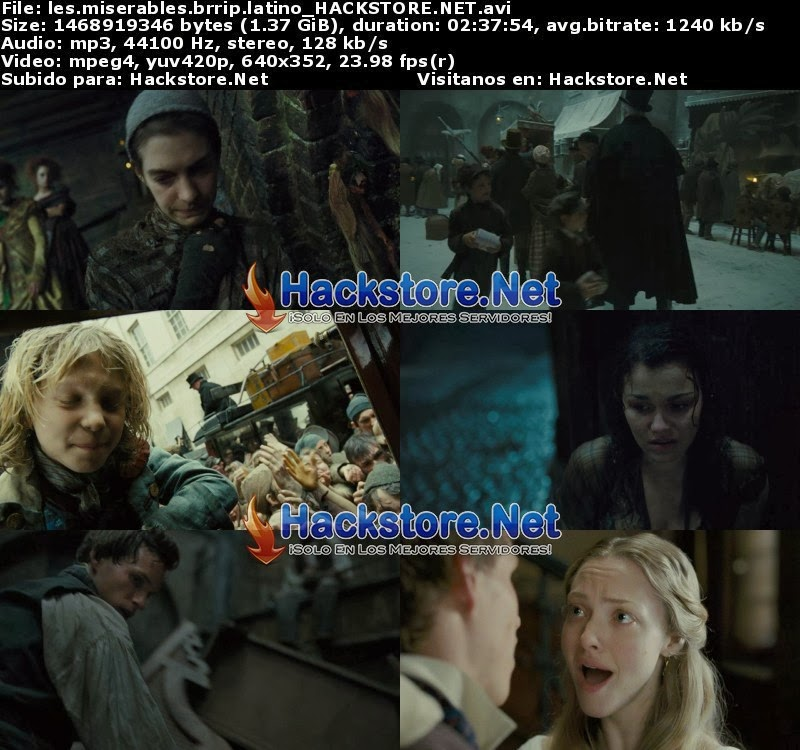 Captura Los Miserables (2012) Dvdrip Latino