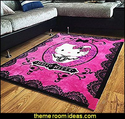Hello Kitty Area Rugs Cute Cartoon Bedroom Carpet Handmade