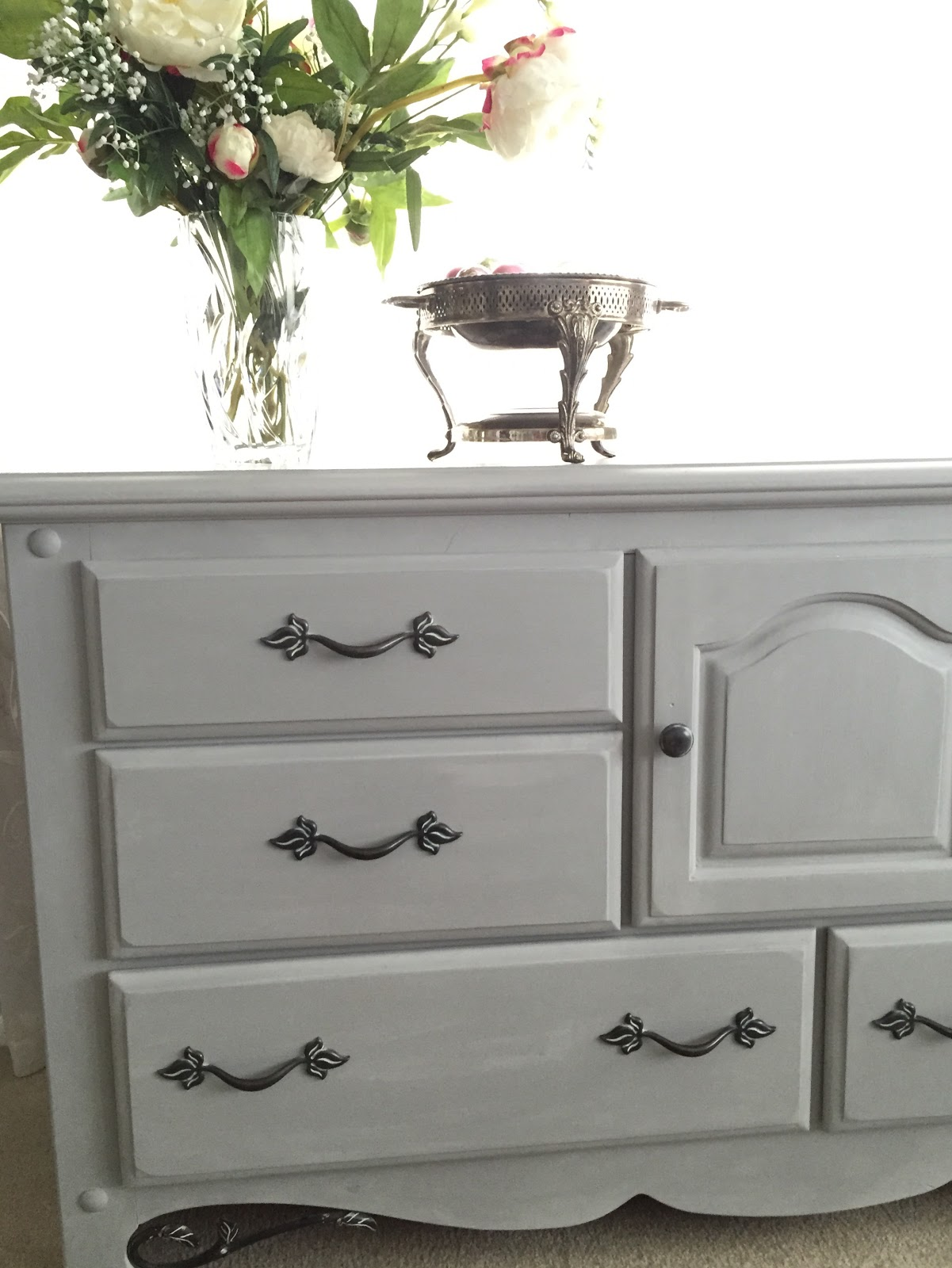 Grey Painted Chairs Beach Chair Clips Target How To Chalk Paint A Dresser With Annie Sloan Paris