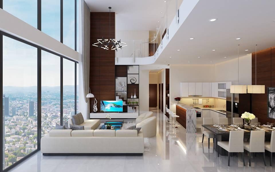 Thiết kế căn hộ Duplex thông tầng tại Mỹ Đình Pearl