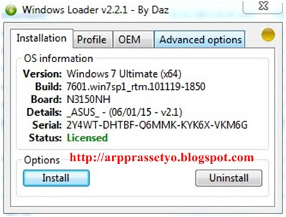 windows 7 loader by daz 2.2 2 unsupported partition table