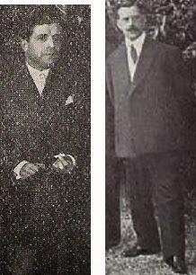 Los ajedrecistas F. Alderete y A. del Valle