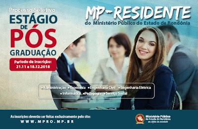 MP Rondônia abre inscrições para seleção de estagiário