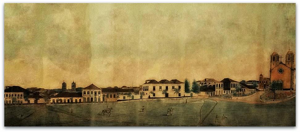 """""""Vista Parcial da Cidade de Desterro"""" (1846) - Victor Meirelles de Lima"""