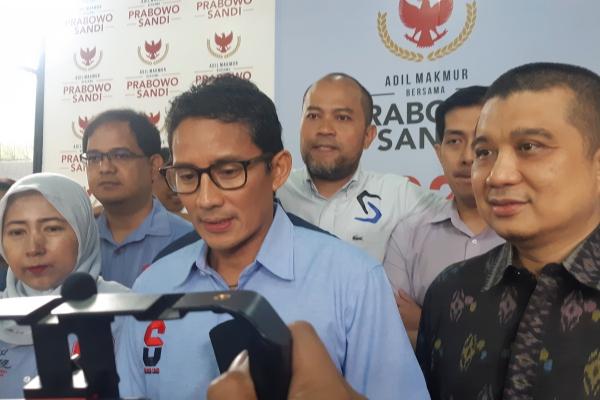 Hitung Internal, Erwin Aksa: Prabowo-Sandi Unggul Telak