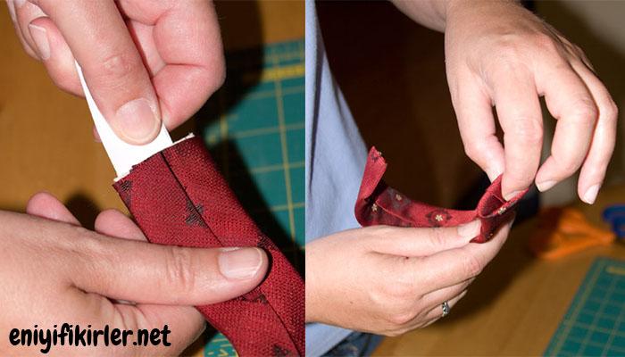 kravattan bileklik dikimi