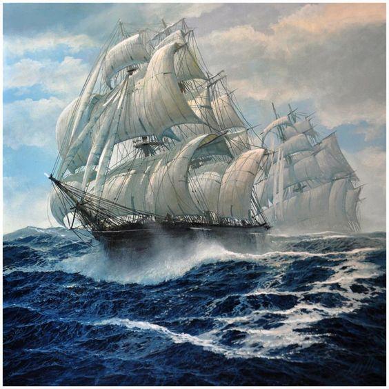 Αποτέλεσμα εικόνας για θαλασσα και φορτηγα πλοία ζωγραφικοί πίνακες