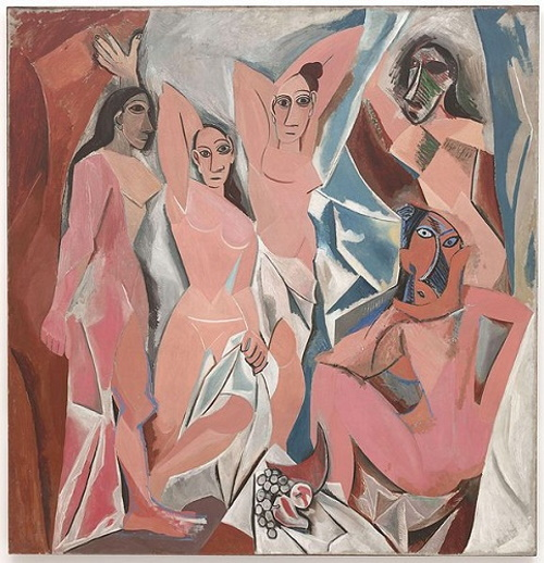 Les Demoiselles d'Avignon, pintura do espanhol Pablo Picasso. #PraCegoVer
