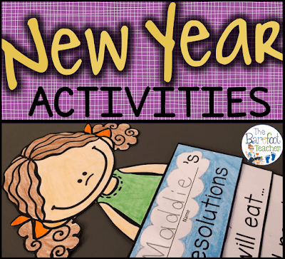 These New Year's activities for kids are a great way to help students make resolutions and think about their goals for the new year. These activities are quick and easy - a perfect addition to the other lessons and crafts you have planned for your Kindergarten or First grade students!