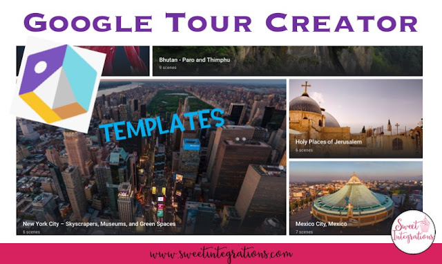 screenshot of templates you can use with Google Tour Creator