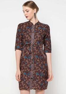 Model Dress Batik Terbaru