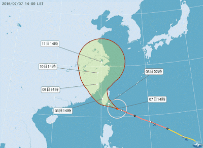 尼伯特颱風縮時攝影觀測日記-20160707來襲前一天風雲