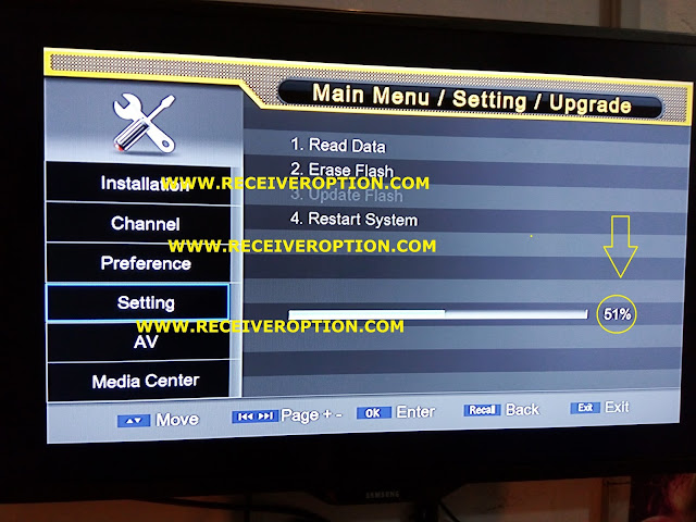 YELLOW TYPE PROTOCOL HD RECEIVER AUTO ROLL POWERVU KEY NEW SOFTWARE