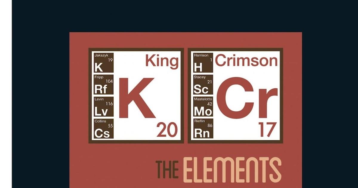 Αποτέλεσμα εικόνας για the elements tour box 2017 king crimson