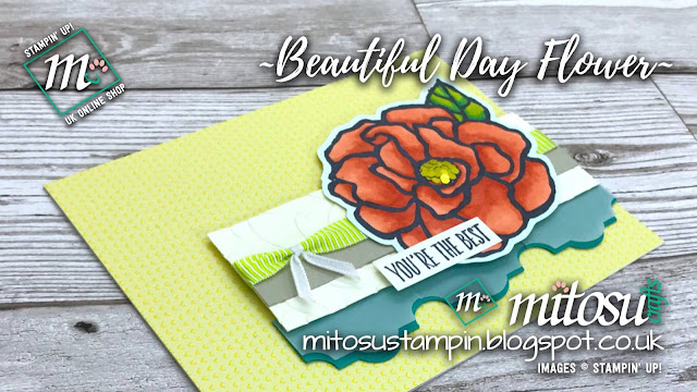 Stampin' Up! Beautiful Day Flower Card Idea order from Mitosu Crafts UK Online Shop