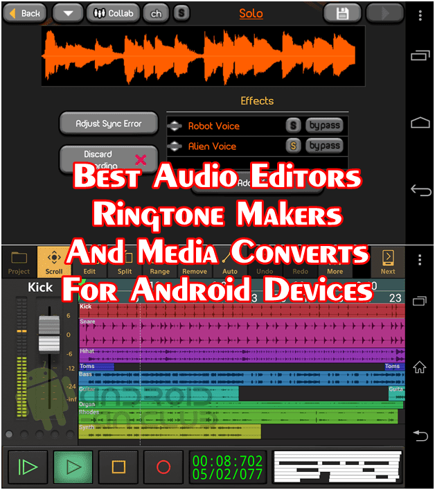 Top 5 Best Audio Editing Apps For Android Smart Phones & Tablets