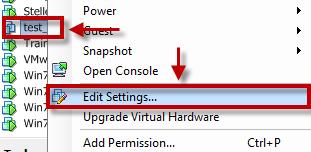 How to change default snapshot location in VMware ESXi 5