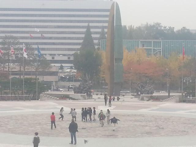 Entrance of the War Memorial of Korea in Seoul