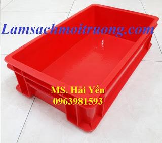 Thùng nhựa đựng vật liệu, thùng nhựa B4, hộp nhựa đựng đồ cơ khí giá rẻ