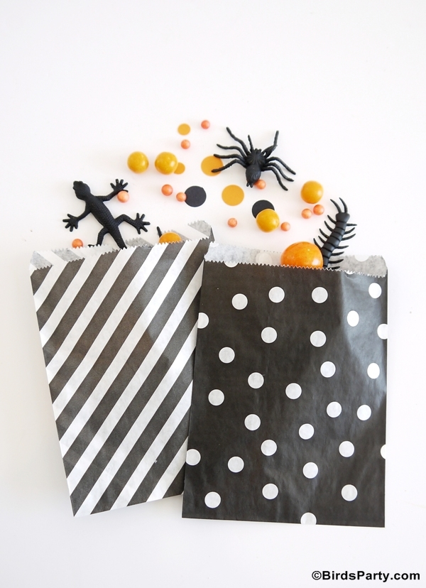Trick or Treat Candy Bag Party Ideas