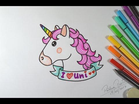 Desenho Tumblr Unicórnio Kawaii