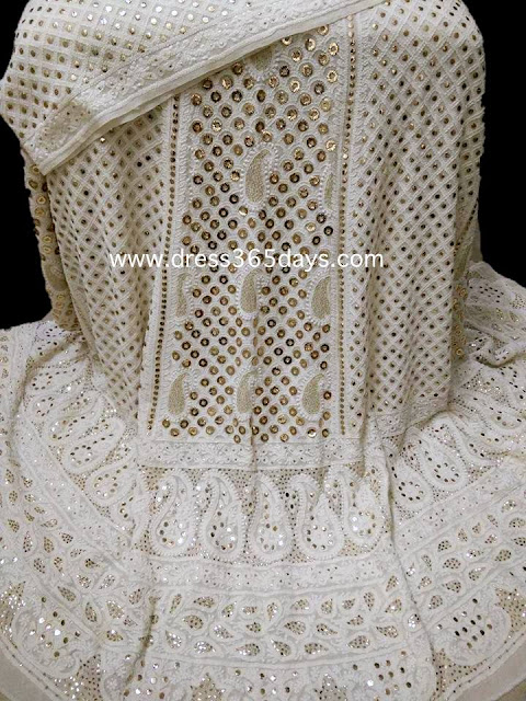 White Wedding Chikankari Lehengas - Unique Dress
