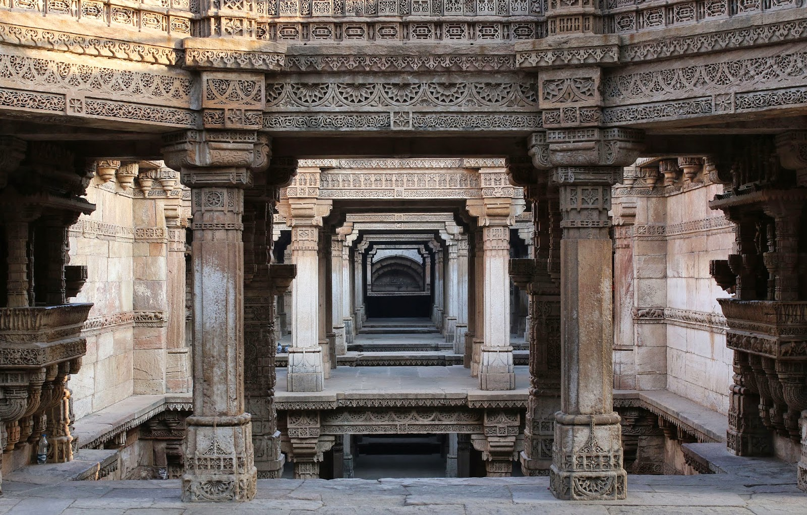 Adalaj Stepwell Ahmedabad Gujarat vav carvings beautiful steps travel tourism