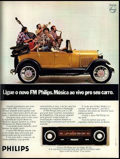 propaganda rádio para carro Philips - 1976. reclame de carros anos 70. brazilian advertising cars in the 70. os anos 70. história da década de 70; Brazil in the 70s; propaganda carros anos 70; Oswaldo Hernandez;