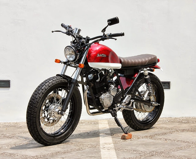 Racing Caf U00e8  Yamaha Scorpio 225  U0026quot The Scorcrambler U0026quot  By