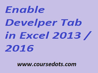 Enable Develper Tab Cover