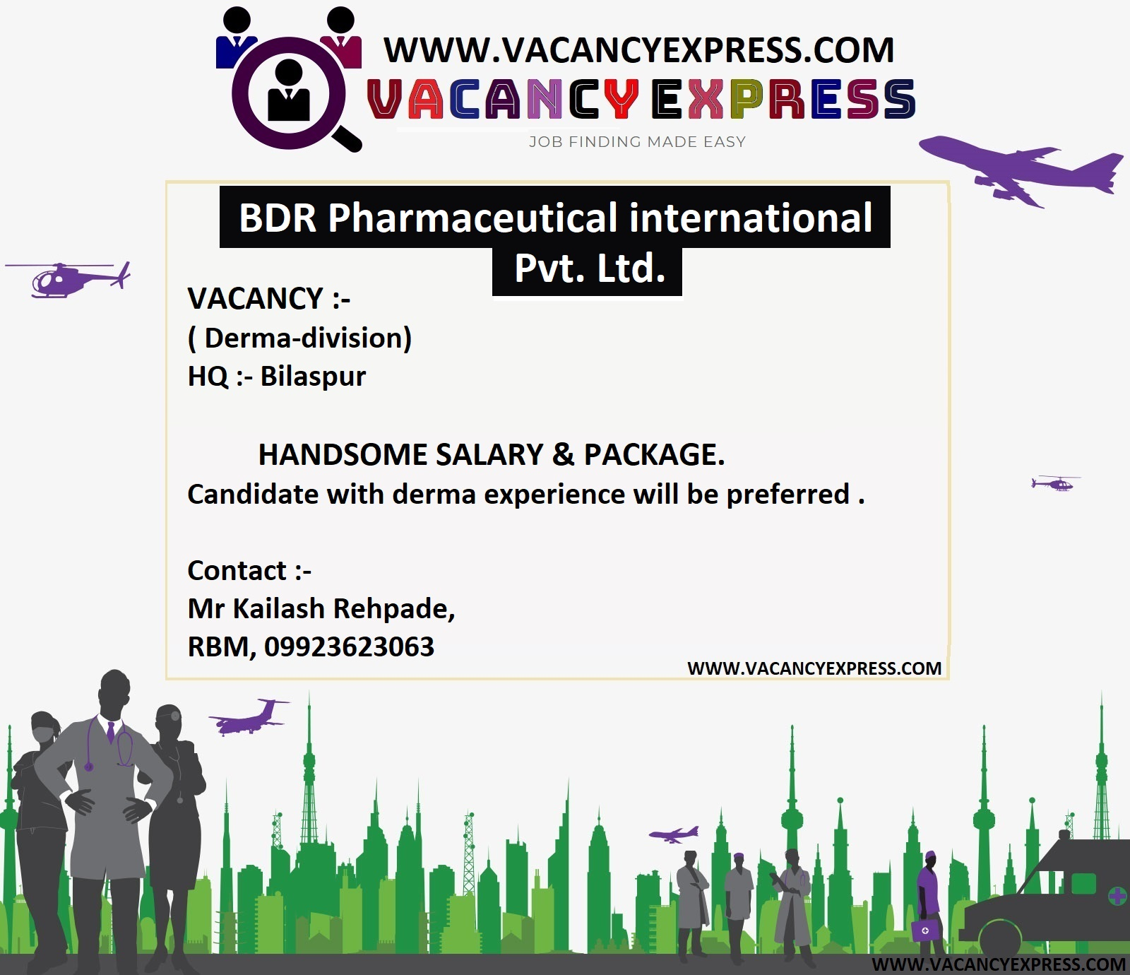Urgently Requirement at BDR Pharmaceutical International Pvt  Ltd