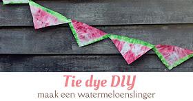 tie dye diy watermeloen slinger