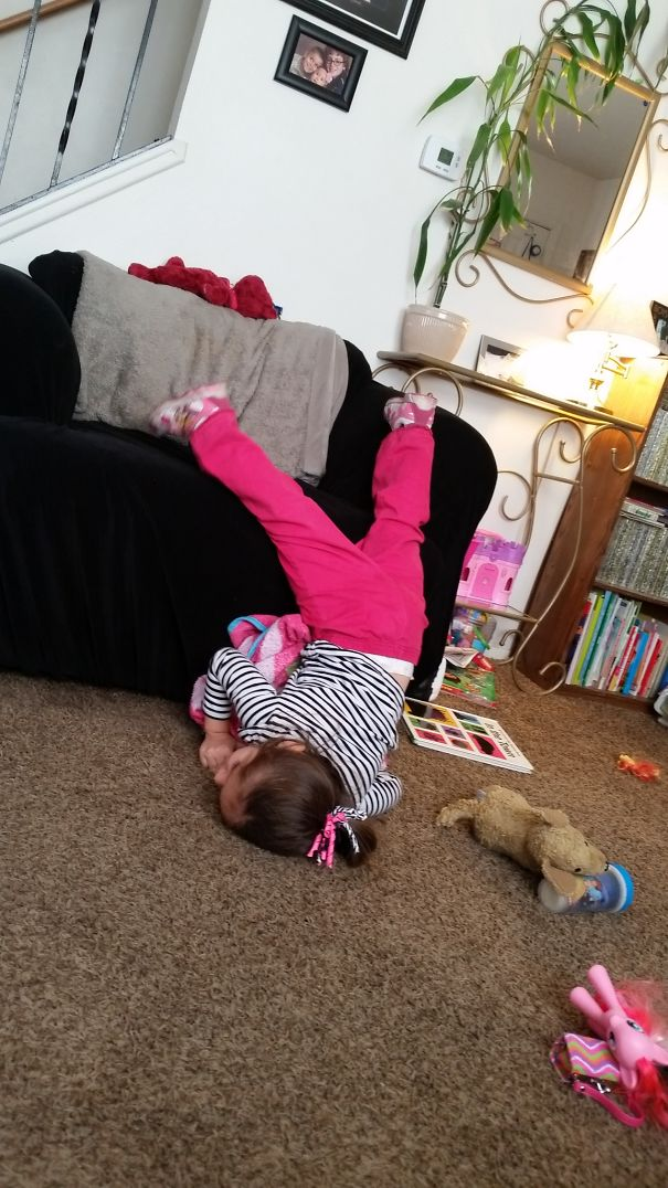 15+ Hilarious Pics That Prove Kids Can Sleep Anywhere - Falling Off The Chair!