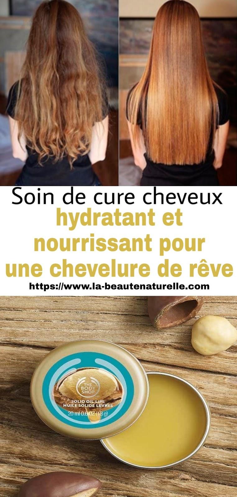 Soin de cure cheveux hydratant et nourrissant pour une chevelure de rêve