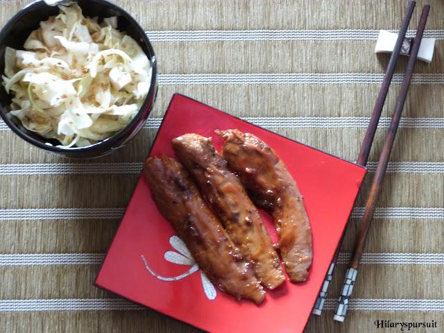 Aiguillettes de canard marinées aux baies de Sichuan et sa salade de chou au sésame