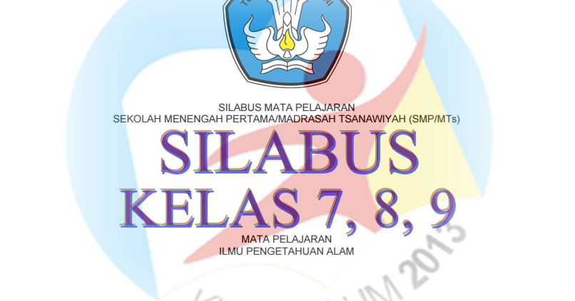 Unduh Silabus Kurikulum 2013 Revisi Tahun 2016 Smp Mts