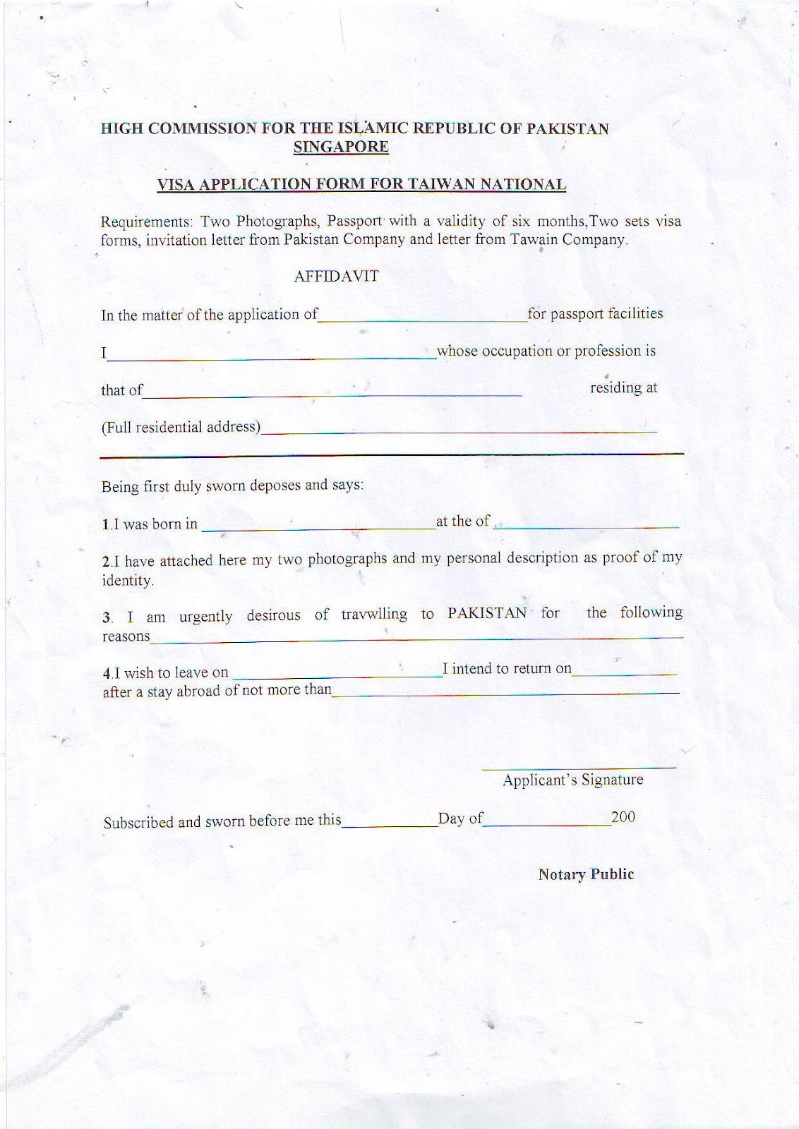 Taiwan%201 Visa Application Form For Dish From India on
