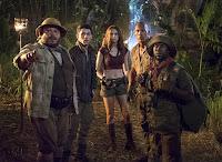 Jack Black, Nick Jonas, Kevin Hart, Dwayne Johnson and Karen Gillan in Jumanji: Welcome to the Jungle (12)