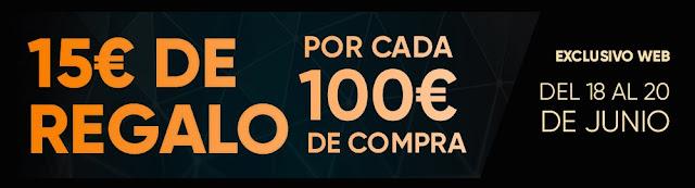 Top 10 ofertas 15 € de regalo cada 100 € de compra de Fnac.es