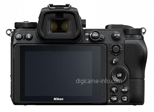 Nikon Z7, вид сзади