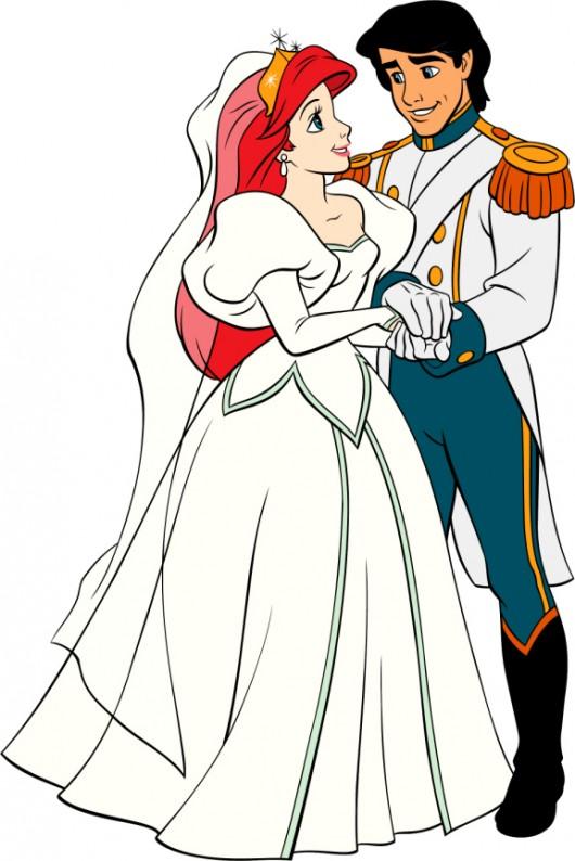 Disney Couple Princess Ariel and Prince Eric Wallpaper
