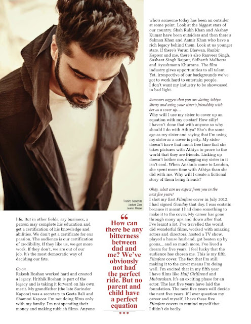 Arjun Kapoor Filmfare May 2017 Photo shoot